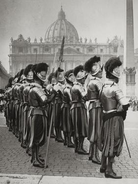 Swiss Guards at San Pietro, Vatican by Luigi Leoni
