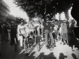 Three Costumed Men on Bicycles at the End of the Nineteenth Century by Luigi Leoni