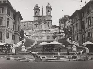 View of Piazza Di Spagna with Trinità Dei Monti by Luigi Leoni