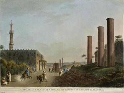 Egypt, Alexandria, Granite Pillars of Portico of Canopus, 1804