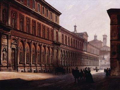 The Ca' Grande in the Via Festa Del Perdona, with S, 1842
