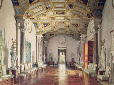 The Great Agate Hall in Catherine Palace in Tsarskoye Selo, 1859