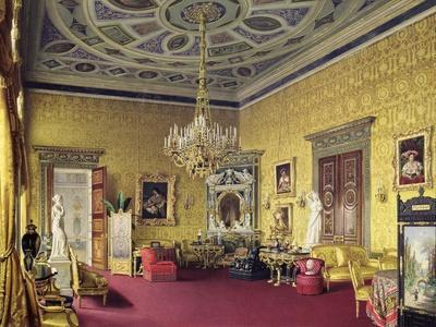 The Lyons Hall in Catherine Palace in Tsarskoye Selo, 1859
