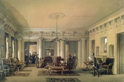 The Waiting Room of the Stagecoach Station in St. Petersburg, 1848 (W/C and Gouache on Paper)