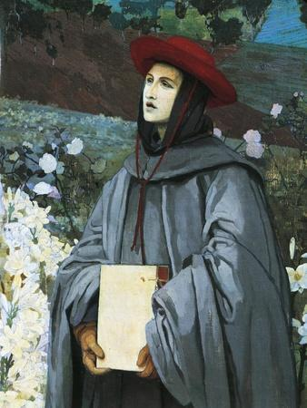 St Bonaventura, Detail from the Apparition of the Virgin to St Francis of Assisi and Bonaventure