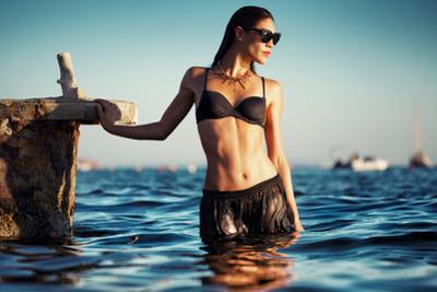 Female Model Wearing Bikini
