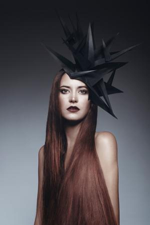 Female Model with Long Red Hair by Luis Beltran