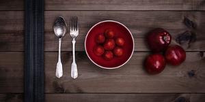 Food Stylishly Presented on a Table by Luis Beltran