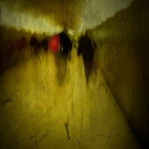 People Walking Along a Tunnel by Luis Beltran