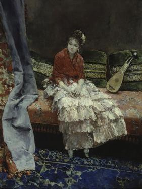 A Moment of Reflection, 1876 by Luis Jimenez Aranda