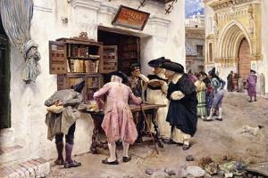 The Bibliophiles, 1879 by Luis Jimenez Y Aranda