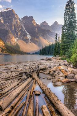Moraine Lake, Glacial Lake in Banff National Park by Luis Leamus