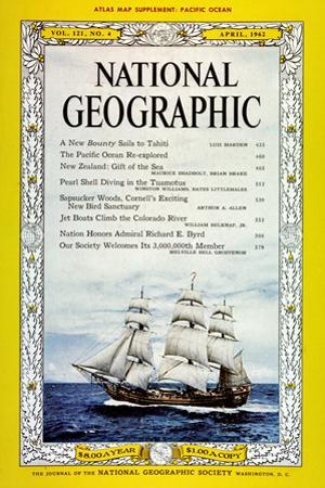 Cover of the April, 1962 National Geographic Magazine