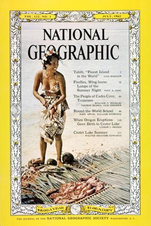 Cover of the July, 1962 National Geographic Magazine