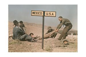 Two Border Patrol Officers Attempt to Keep a Fugitive in the Us by Luis Marden