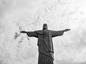 Christ The Redeemer Statue In Rio De Janeiro Brazil by Luis Rego