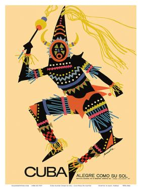 Cuba - Alegre Como Su Sol (Cheerful as Her Sun) - Native Folk Dancer by Luis Vega De Castro