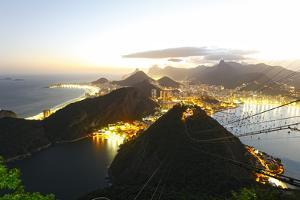 Night Panoramic View Of Rio De Janeiro by luiz rocha