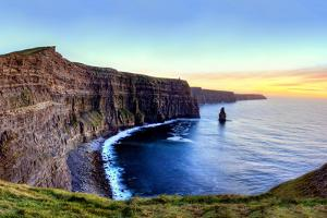 Panoramic View of Cliffs of Moher at Sunset in Ireland. by Lukasz Pajor