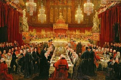 Banquet Given by the Corporation of London to the Prince Regent, the Emperor of Russia and the…