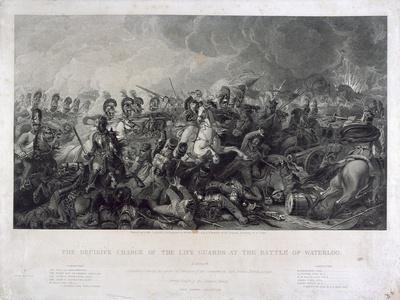 The Decisive Charge of the Life Guards at Waterloo, 1815, by William Bromley (1769-1842), 1821