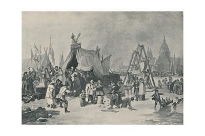 'The Fair on the Frozen Thames, 1814', (1920)