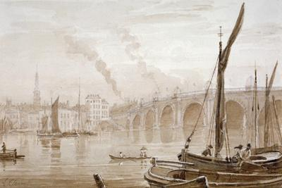 View of Blackfriars Bridge from the Surrey Shore, with Boats in the Foreground, London, C1825