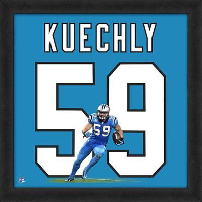 Luke Kuechly, Panthers - Framed Photographic Representation Of The Player's Jersey
