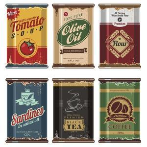 Retro Food Cans Collection by Lukeruk