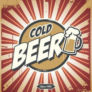 Vintage Beer Poster by Lukeruk