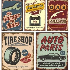 Vintage Car Metal Signs And Posters by Lukeruk