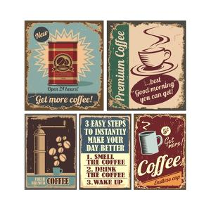 Vintage Coffee Posters And Metal Signs by Lukeruk