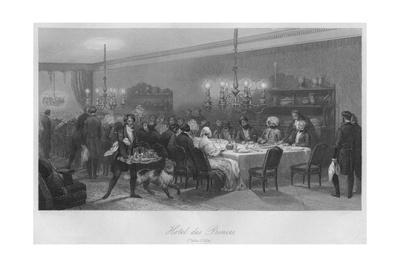 'Hotel des Princes. (Table D'Hote)', c1843