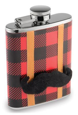 Lumberjack Flask with Removable Mustache (7oz)