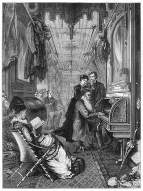 Sunday on the Union Pacific Railway, USA, 1875 by Lumley
