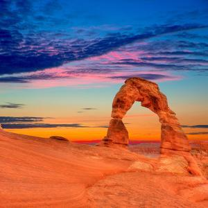Arches National Park Delicate Arch in Utah Usa by Lunamarina