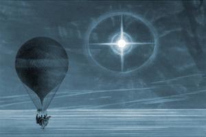 Lunar Glow in Balloon Flight