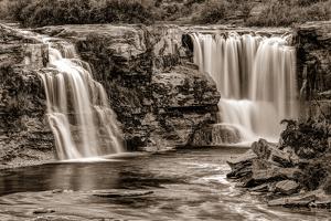 Lundbreck Falls on Crowsnest River, Lundbreck, Alberta, Canada
