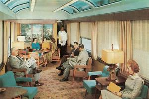 Luxury Lounge Car on Train