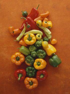 Assorted Peppers by Luzia Ellert