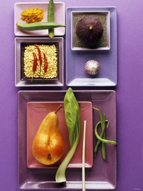 Interesting Combination of Foods on Plates by Luzia Ellert