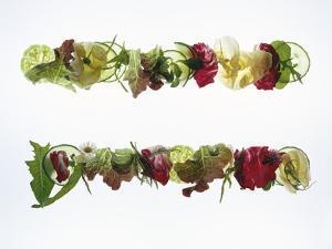 Salad Leaves with Meadow Flowers by Luzia Ellert