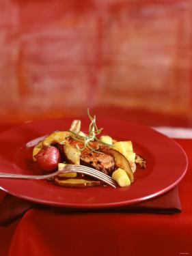 Venison Chop with Mushrooms and Gnocchi by Luzia Ellert