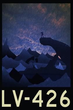 LV-426 Retro Travel Poster