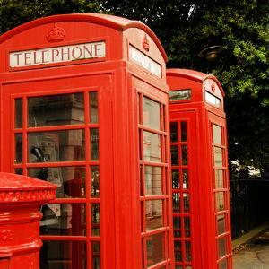 British Red Telephone Boxes and Post Box by Lyn Holly Coorg