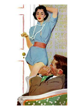 "Lovely Neighbor  - Saturday Evening Post ""Leading Ladies"", November 20, 1954 pg.43"