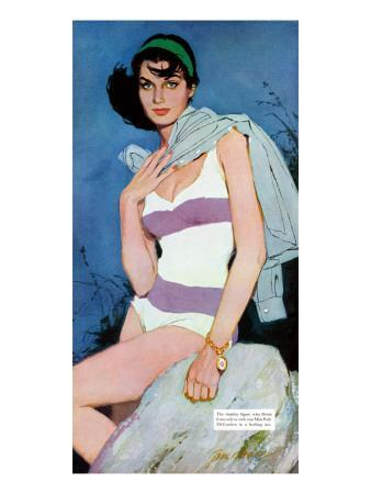 "Sweet Enemy - Saturday Evening Post ""Leading Ladies"", October 5, 1957 pg.30"