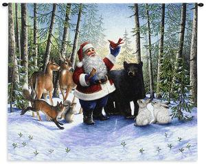Santa in the Forest by Lynn Bywaters