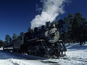 The Grand Canyon Train with Snow on Ground by Lynn Eodice