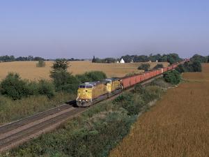 Freight Train in November, IL by Lynn M. Stone